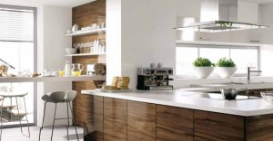 attractive-kitchen-design-white-brown-wood
