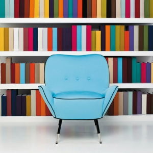 Blue chair by Dedar