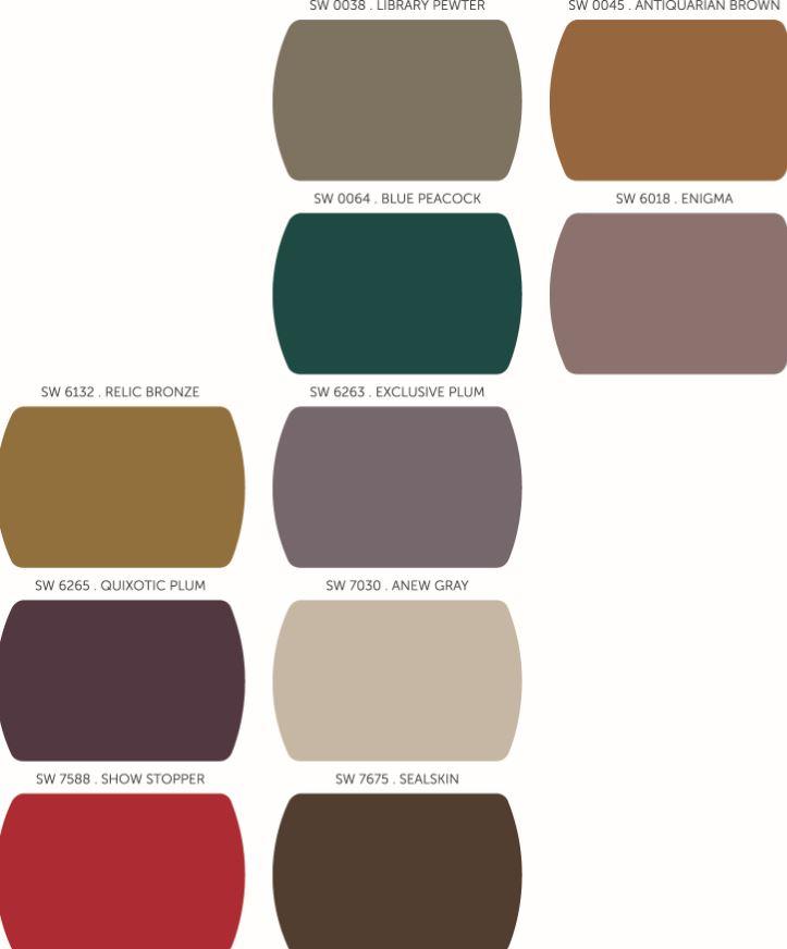 Sherwin Williams 2014 Color Forecast Curiosity Featuring: Falling For Sherwin-Williams Fall Color Palettes